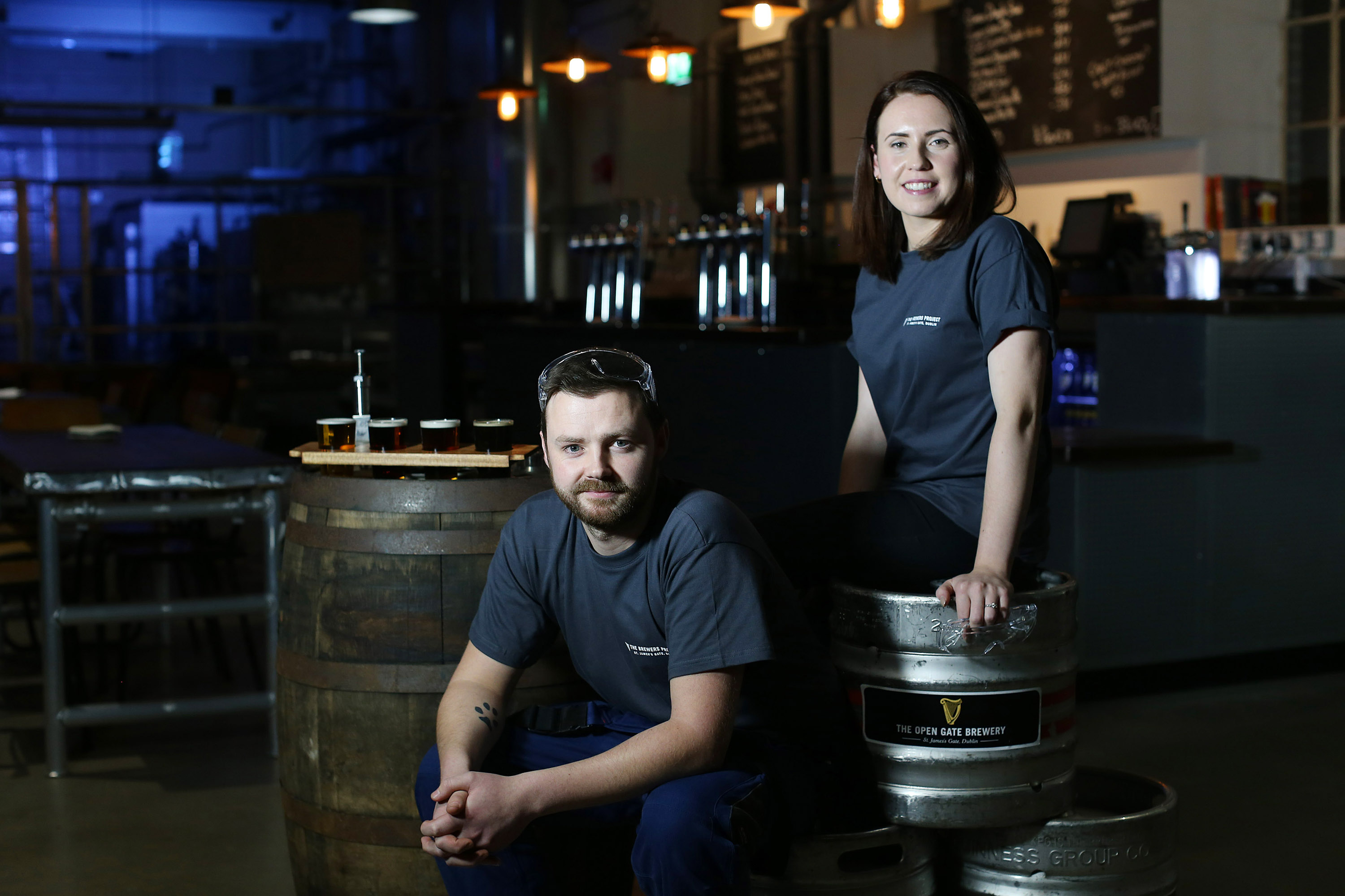Embargo of 3pm 18th November 2015 18/11/2015 NO REPRO FEE, MAXWELLS DUBLIN FOR THE FIRST TIME IN ITS HISTORY GUINNESS OPENS EXPERIMENTAL BREWERY TO THE PUBLIC Pic shows ( l to r) Jason and Feodora. Continuing in a long-standing tradition of brewing innovation and excellence, the Guinness brewers at St. James's Gate are proud to announce the launch of The Open Gate Brewery. Those interested in visiting The Open Gate Brewery should log on to www.guinnessopengate.com, call (01) 4712455 or email info@guinnessopengate.com to reserve a place. (Strictly over 18s only, management reserves the right to refuse admission) Visit Drinkaware.ie Enjoy Guinness sensibly For further information please contact Wilson Hartnell Elisabeth Fitzpatrick (01) 6690030 / (086) 6092571 / elisabeth.fitzpatrick@ogilvy.com Niamh Commins on (01) 6690030 / (085) 8371723 / niamh.commins@ogilvy.com Marie-Claire Whelan on (01) 6690030/ (086) 0735437 / marie-claire.whelan@ogilvy.com PIC: NO FEE, MAXWELLS Embargo of 3pm 18th November 2015