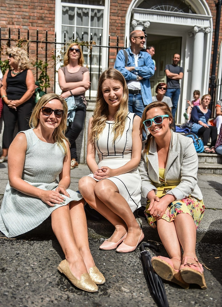 Emma Cranny, Lisa Griffen & Amanda Doran pictured at the Bloomsday Brunch Street Feast on North Great Georges Street, Dublin 1.