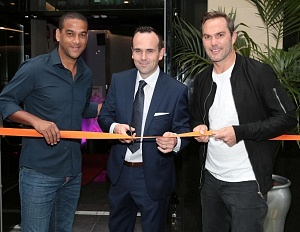 Irish soccer legends Phil Babb and Jason McAteer cut the ribbon and welcomed guests in to Dublin's newest interactive sports bar, with General Manager Patrick Kenny