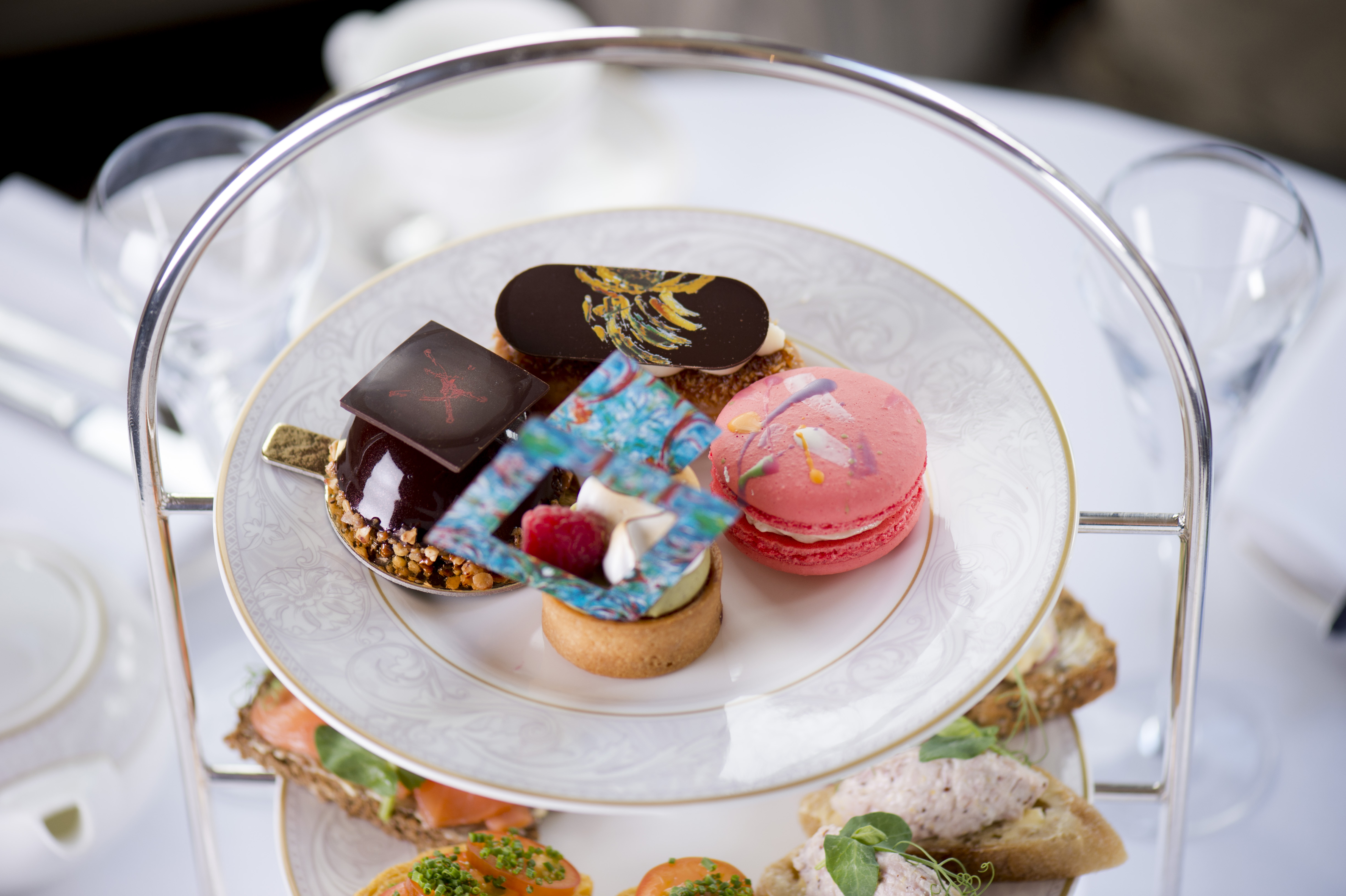 Michael Flatley artist inspired afternoon tea at The Shelbourne Hotel Dublin. Picture: Elaine Hill.