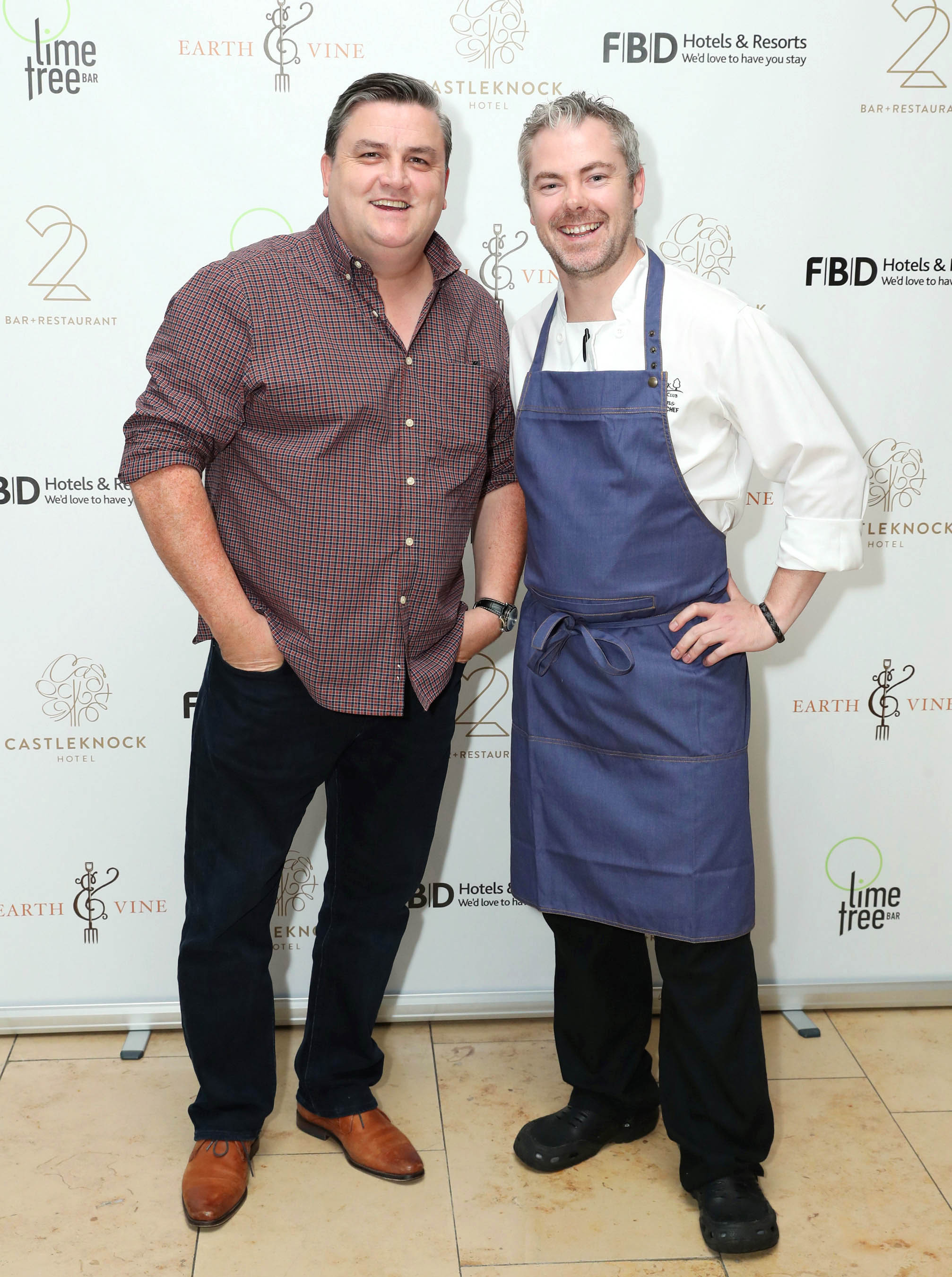 Simon Delaney-Chef-Actor-Neal Kearns- Simply Simon's-Castleknock Hotel-22 Bar & Restaurant- Earth & Vine - FBD-Lime Tree