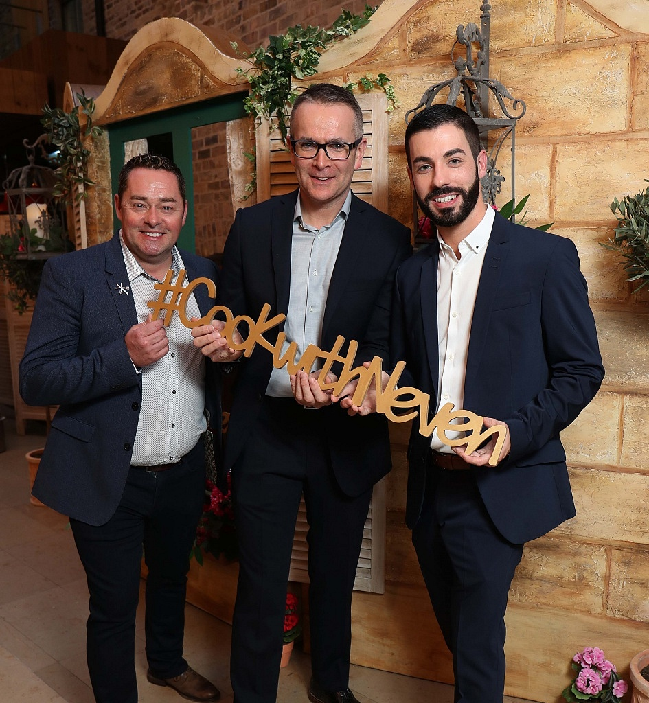 Nevin Maguire pictured with Diarmuid Murphy, Simply Better Brand Manager (centre) and Daragh Lawless, Simply Better Marketing and Design Brand Manager