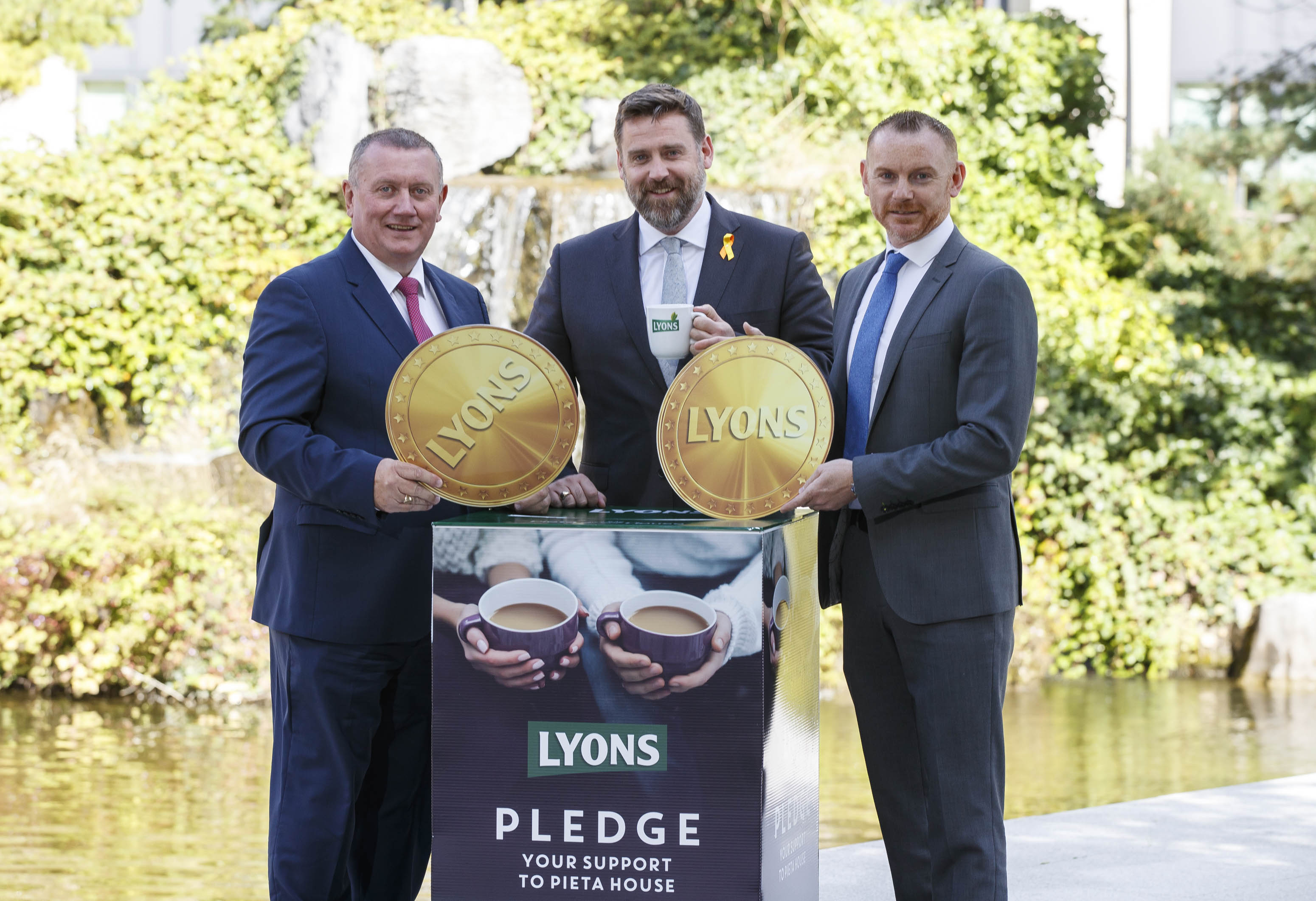 Jim Reeves, Customer Director, Unilever , Brian Higgins, CEO of Pieta House and Paul Kelly, Head of Marketing, Unilever