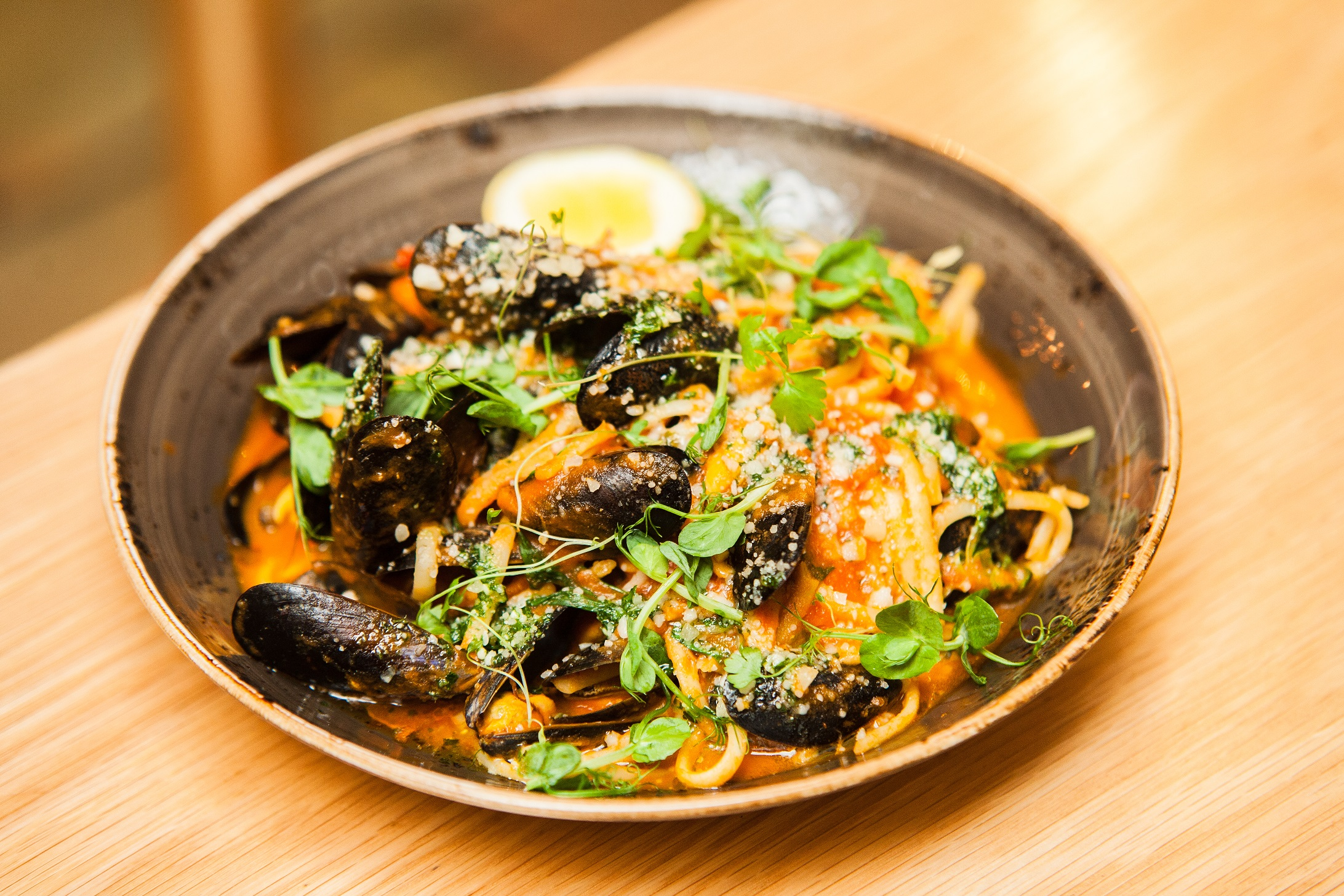 Exchequer Wine Bar - Seafood Linguine-Tomato-Basil