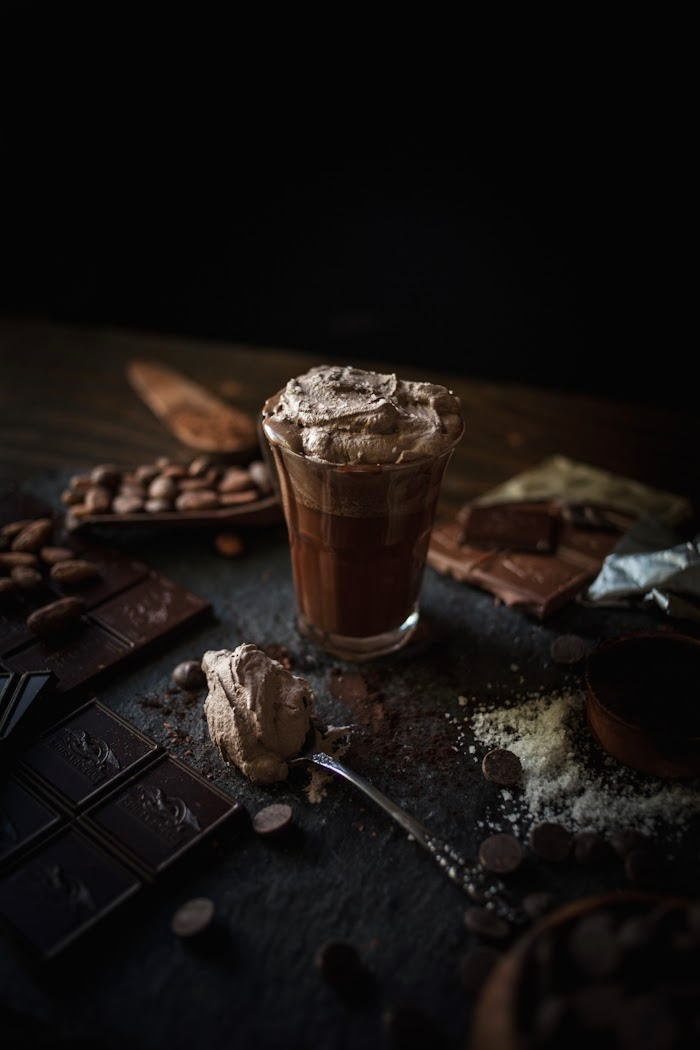 Hot Chocolate Recipe with Sea Salt Whipped Cream